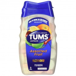 Tums Assorted Fruit Tablets 72s