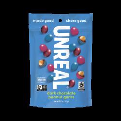 Unreal Candy Coated Dark Chocolate Peanuts Bag 5oz (142g)