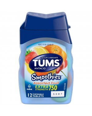 Tums Extra Strength Assorted Fruit Tablets 12s