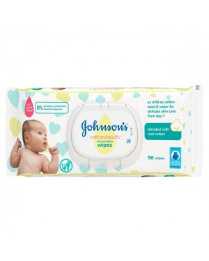 Johnson's Cotton Touch Extra Sensitive Baby Wipes 56s x 12