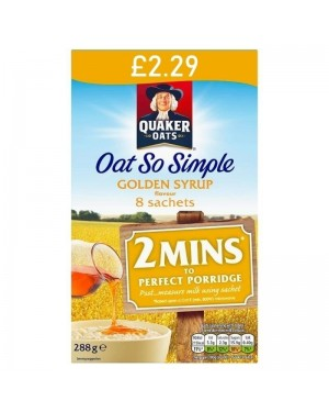 Quaker Oat So Simple Golden Syrup 288g - 8 Sachets PM £2.29