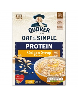 Quaker Oat So Simple Protein Golden Syrup 8 x 43g
