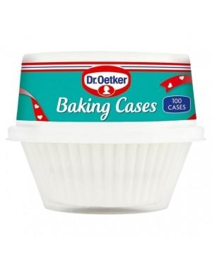 Dr Oetker Baking Cases White 2x100 Cases