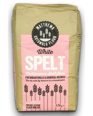 Matthews Cotswold Stoneground Spelt White Flour 1.5kg