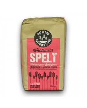 Matthews Cotswold Wholemeal Spelt Flour 1.5kg