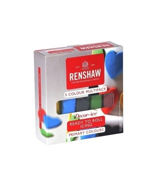 Renshaw Primary Colours Icing Multipack 600g