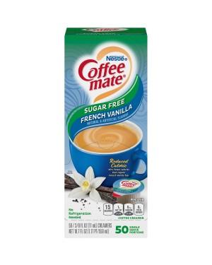 Nestle Coffee Mate Sugar Free French Vanilla Single Serve Liquid Creamer 0.375oz (11ml) 50s