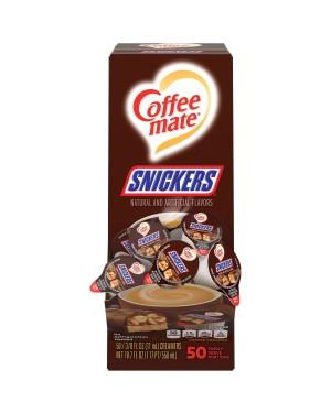 Nestle Coffee Mate Snickers Single Serve Liquid Creamer 0.375oz (11ml) 50s