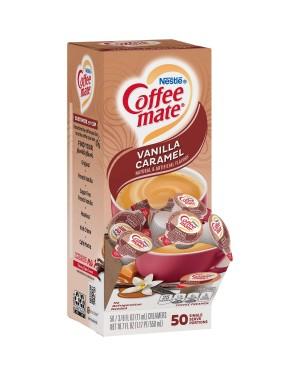 Nestle Coffee Mate Vanilla Caramel Single Serve Liquid Creamer 0.375oz (11ml) 50s