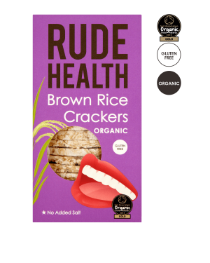 Rude Health Brown Rice Thins/Crackers 130g RRPœ £2.40