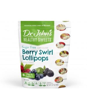 Dr. John's Healthy Sweets Sugar Free Berry Swirl Lollipops 10's