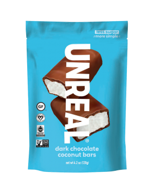 Unreal Candy Dark Chocolate Coconut Bars 4.2oz (120g)
