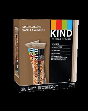 Kind Bars Magagascan Vanilla Almond 12x40g