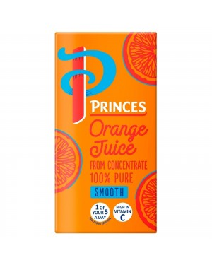 Princes Orange Juice Smooth 200ml pack of 24
