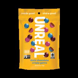 Unreal Candy Dark Chocolate Crispy Gems Bag 5oz (142g)
