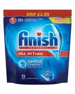 Finish Dishwasher Tablets All In One 13 Tablets