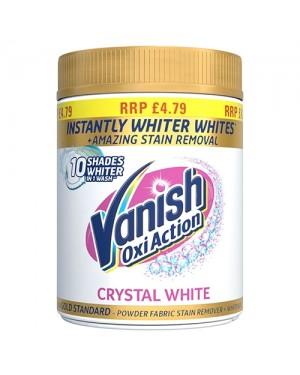 Vanish Stain Remover Powder Fabric Whitener Crystal White PM