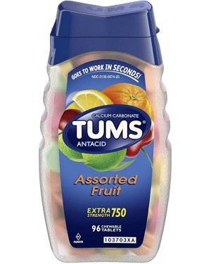 Tums Assorted Fruit Tablets 96s