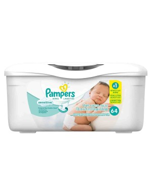 Pampers Wipes Sensitive Tub 64 pack