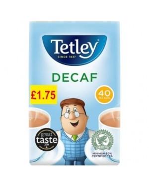 Tetley Tea Bags Decaff 40's PM £1.75