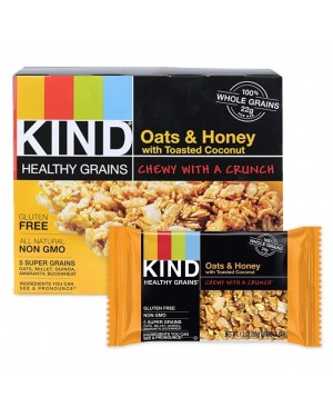 Kind Healthy Grains Oats & Honey with Toasted Coconut 1.2oz (35g) 5's