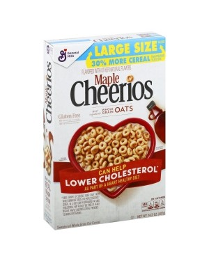 General Mills Cheerios Maple Cereal 14.2oz (402g)