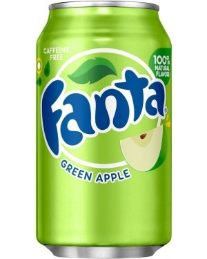 Fanta Green Apple Soda Can 12oz (355ml)