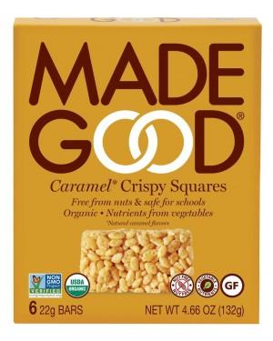 MadeGood Crispy Squares Caramel 0.77oz 6s
